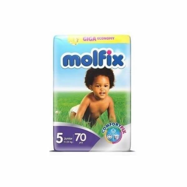 Molfix 5 Junior 70pcs, Dapers, Babybliss, Molfix
