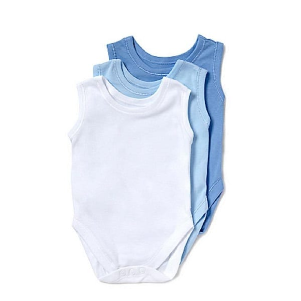 George 3 Piece Sleeveless Bodysuit Blue