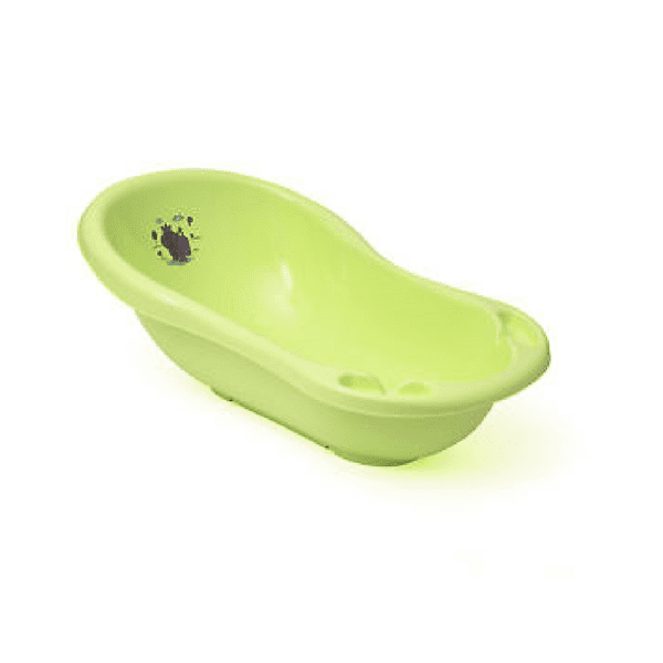 hippo lime green baby bath tub babybliss. Black Bedroom Furniture Sets. Home Design Ideas