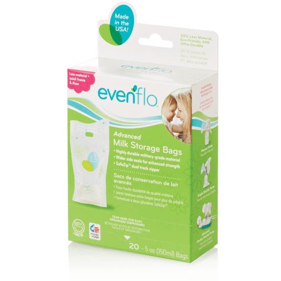 Evenflo Feeding Advanced Milk Storage 5 Ounce Bags 20 Count