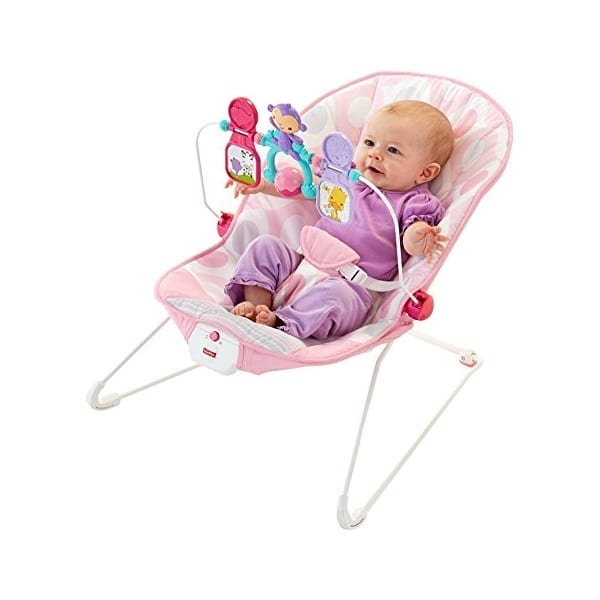 Fisher Price Baby S Bouncer Pink Ellipse Babybliss