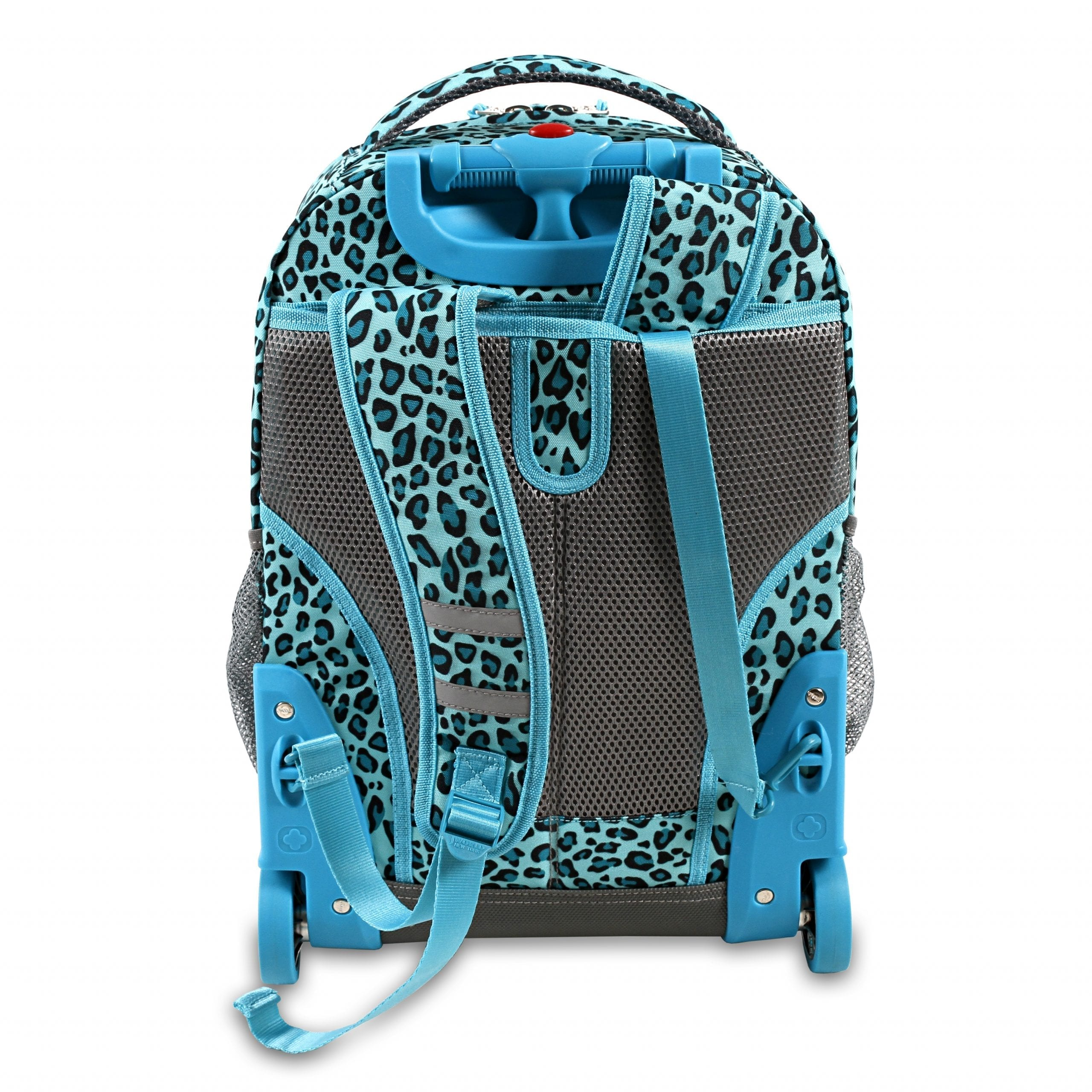 J World New York Rolling Backpack-Mint Leopard - Babybliss