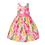 American Princess White/Pink Floral Bodice Dress A20599