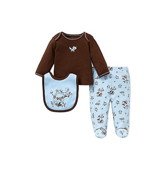 Little Me Baby Boys 3-Piece Woodland Set