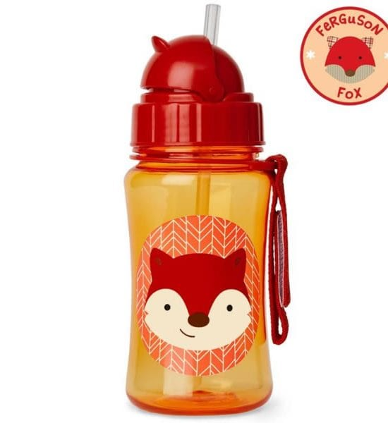 Skip Hop Zoo Straw Bottle 12months+ (Fox)