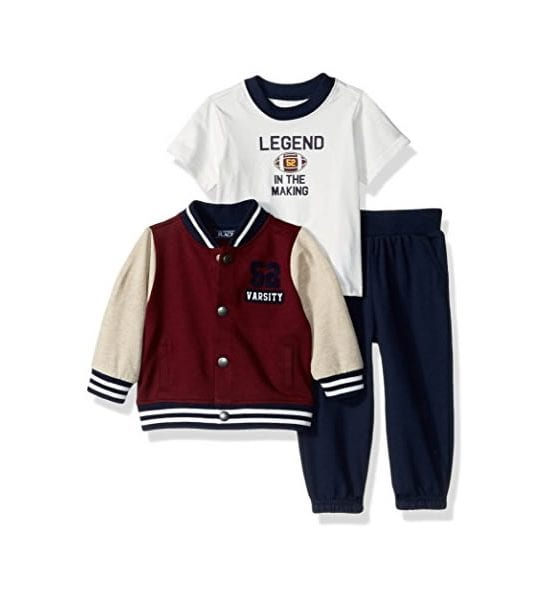 The Childrens' Place Baby Top and Pants Set, Redwood 9-12Months