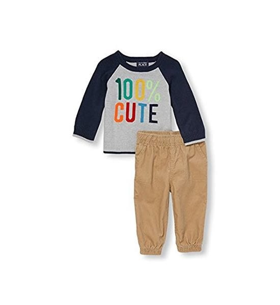 The Children's Place Baby Boys' 2 Pc Set 100% Cute Tidal 3-6Months