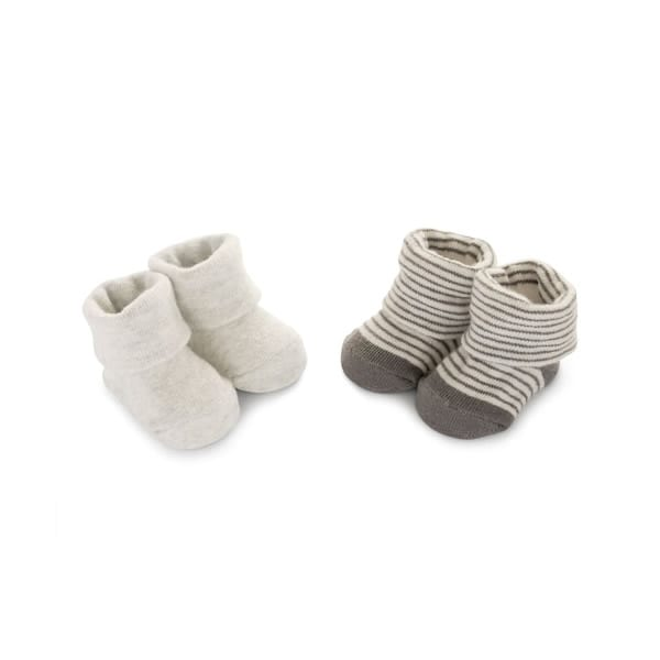 a6b3209ffbbb Carter s Little Baby Basics 2Pairs Baby Booties Cream White Stripes ...