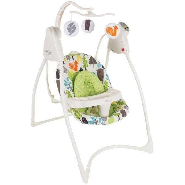 Graco Lovin Hug Swing With Electric Plug Bear Trail