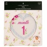 Laura Ashley First Year Baby Milestone Stickers, Months and Firsts, 20-Pack - Flower