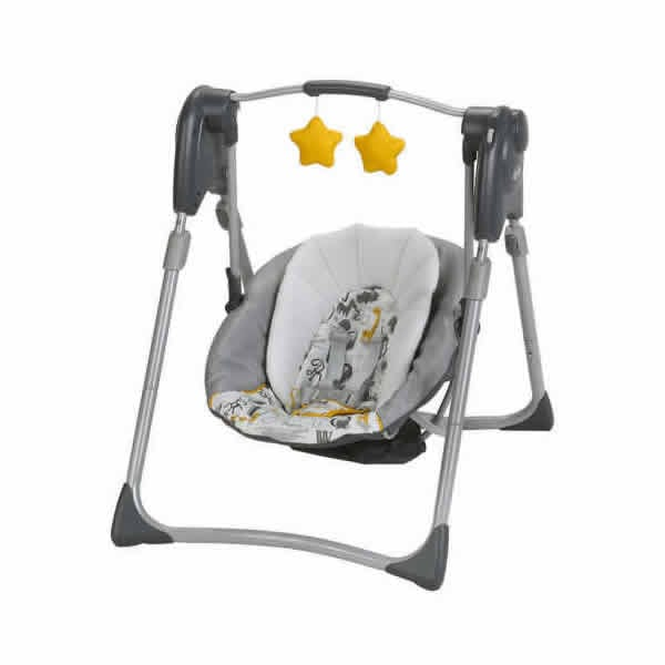 Graco Slim Spaces Compact Swing Lionnel Collection Babybliss