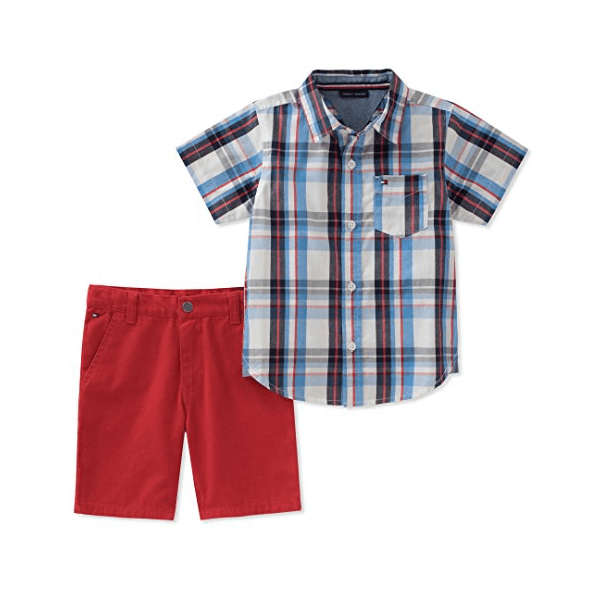 37360188 Tommy Hilfiger Baby Boys 2 Pieces Shirt Shorts Set 6/9M | Babybliss