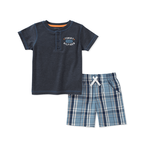 f97fd3fc Tommy Hilfiger Baby Boys 2 Pieces Creeper Short Set | Babybliss