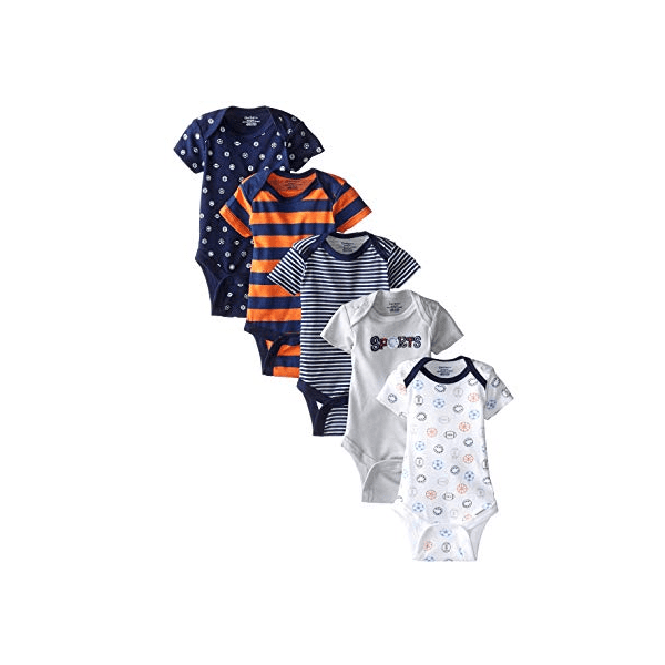 432f37f06 Gerber Baby-Boys Variety Onesies Brand Bodysuits, Sports, 0-3 Months (Pack  of 5) | Babybliss