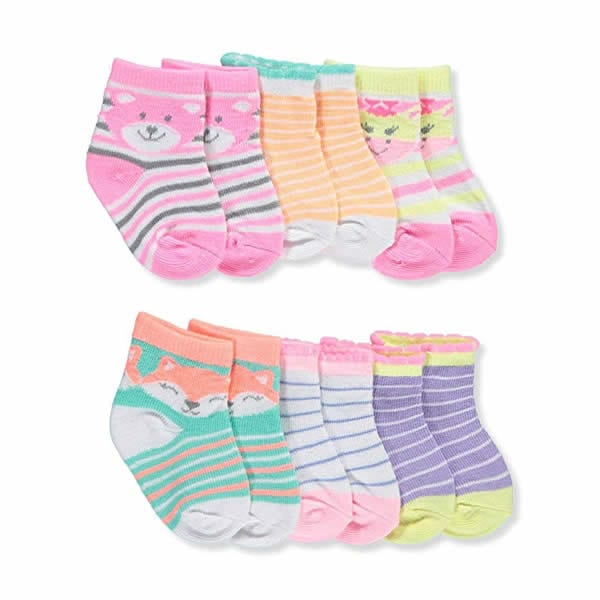 Zack and Zoey 6 pair Anklet Socks - ZY8071