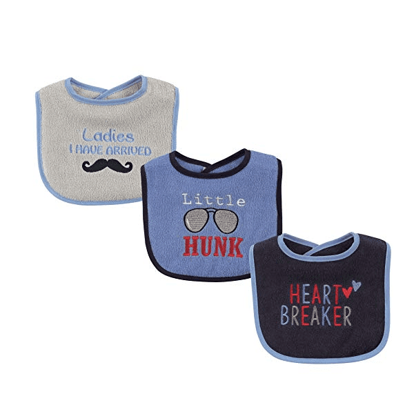 Luvable Friends 3 Pack Drooler Bibs - Heart Breaker