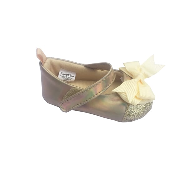Stepping Stones Baby Girls Golden Shoe with Bow SGD16314