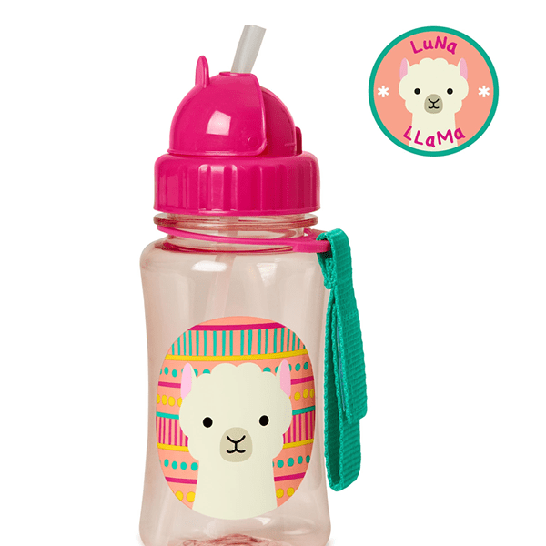Skip Hop Zoo Straw Bottle, Llama