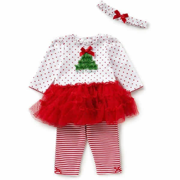 Little Me Christmas 'My First Christmas' Tutu Red/White