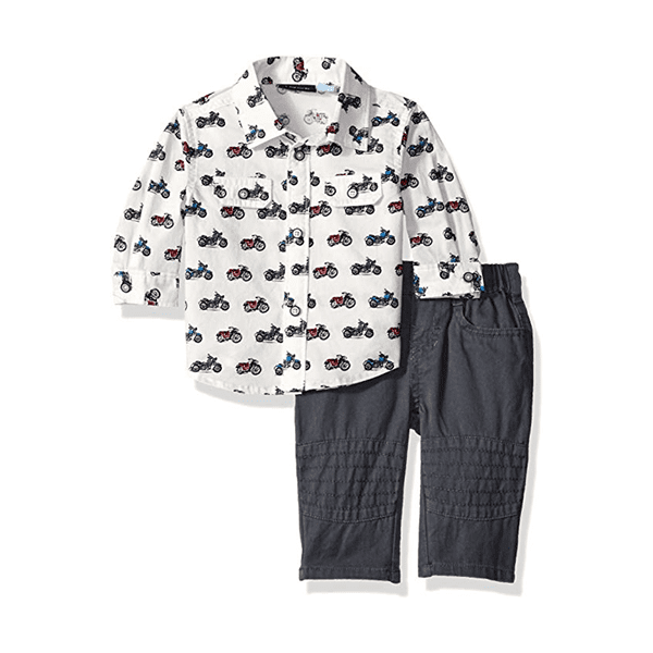 Uploaded ToThe Children's Place Baby Boys' Dressy Shirt and Pants Set, Cloud 66393, 3-6 Months