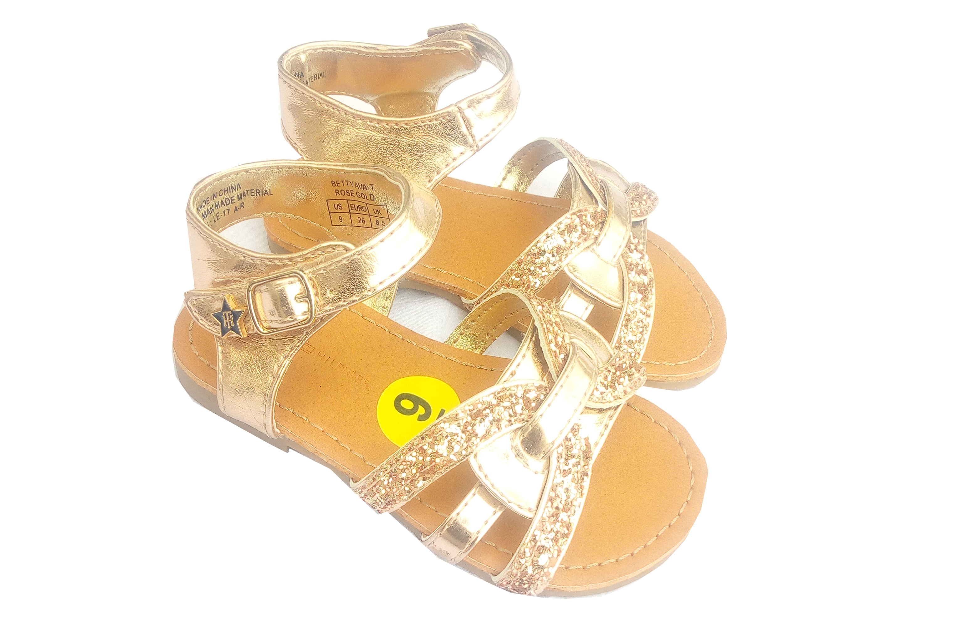 Tommy Hilfiger Baby Girl Gold Sandals Size 5