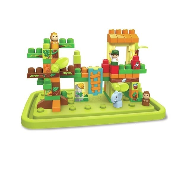 Mega Bloks 88‑pc. Jungle Adventures Tub Town, Multicolor