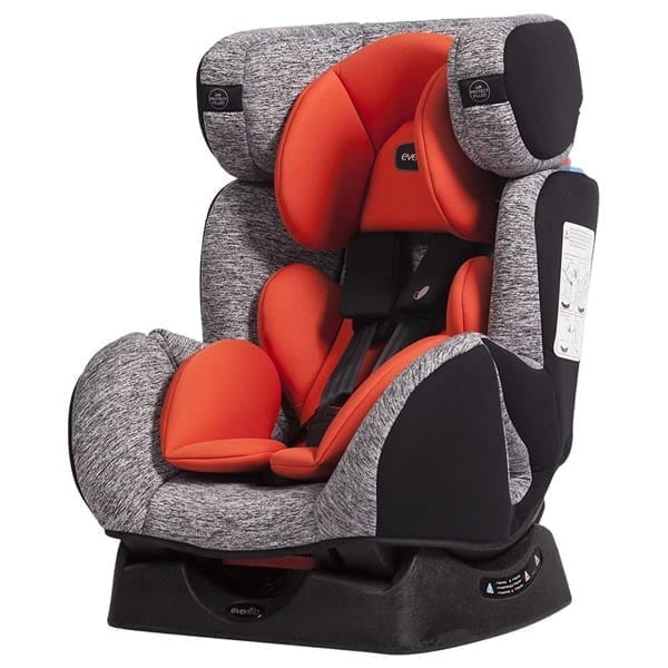 Evenflo - Duran Convertible Car Seat - Red/Grey Lava - E7GO-B