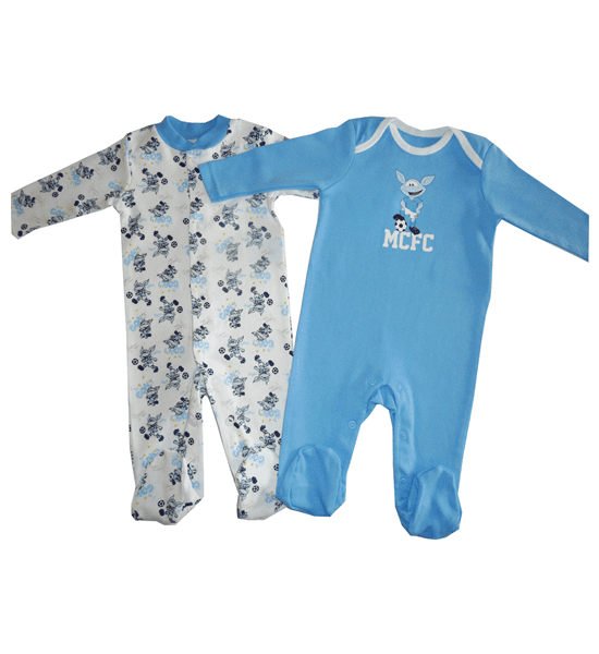 Manchester City Football Club 2 pk Sleepsuit – 3 Months