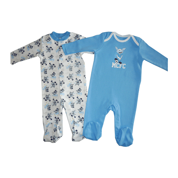 Manchester City Football Club 2 pk Sleepsuit - 3 Months