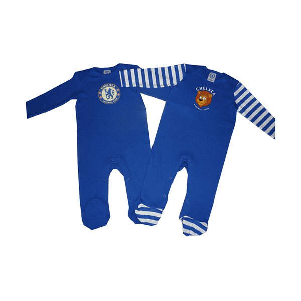 Chelsea ( The Blues) Football Club 2 pk Sleepsuits -3 Months