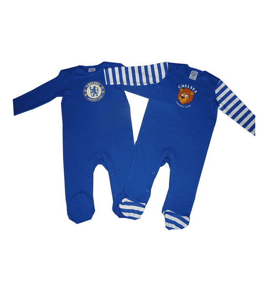 Chelsea Football Club 2 pk Sleepsuits -3 Months