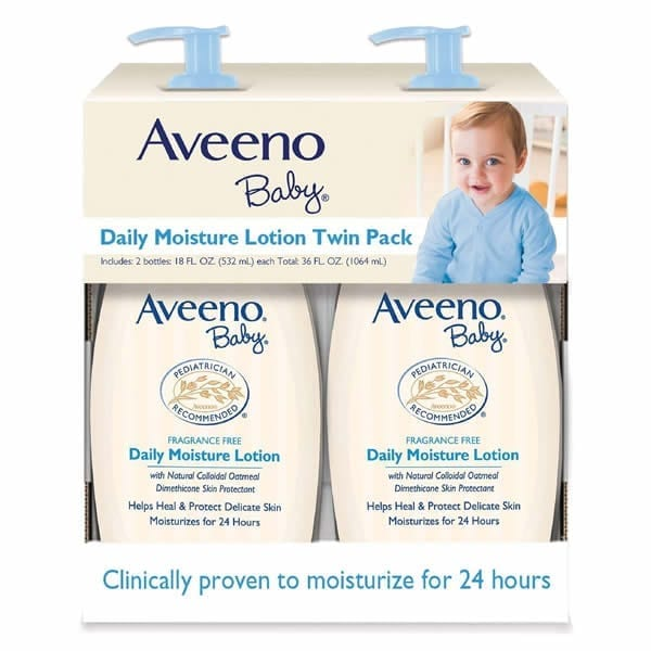 Aveeno Baby Daily Moisture Lotion 18-Fluid Ounces Bottle (2 Pack)
