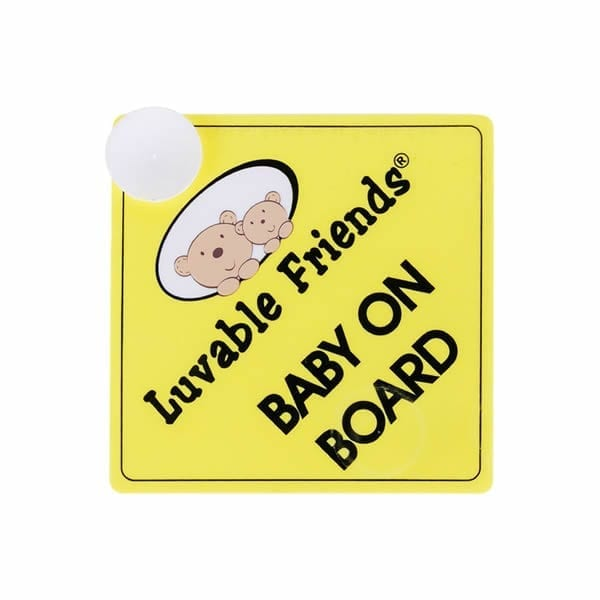 Luvable Friends Baby on Board Sign