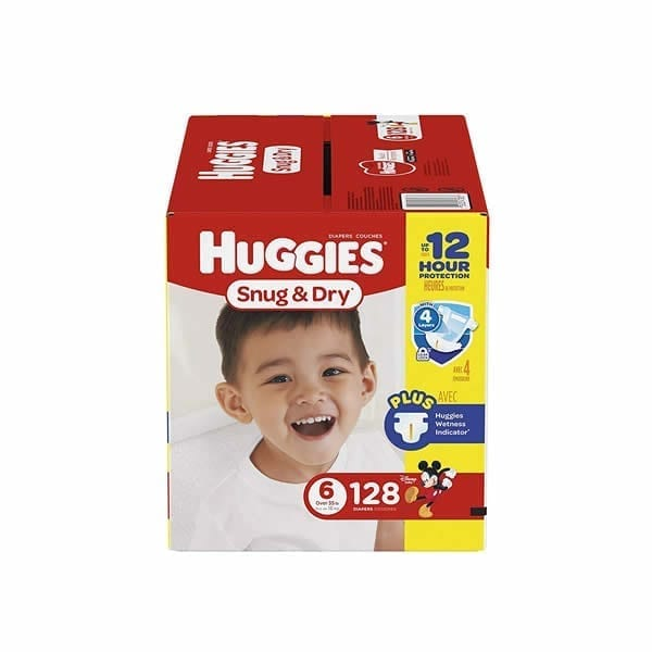 Huggies Diaper Snug & Dry Diapers Size 6 (128 Pcs)