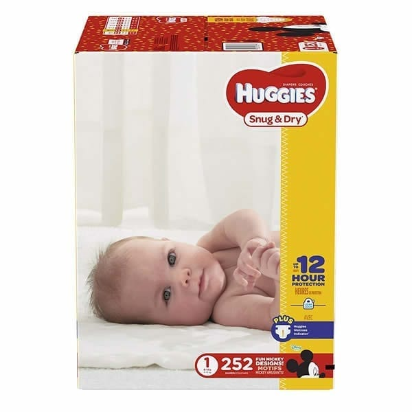Huggies Snug & Dry Diapers Size 1 (252 Pcs)