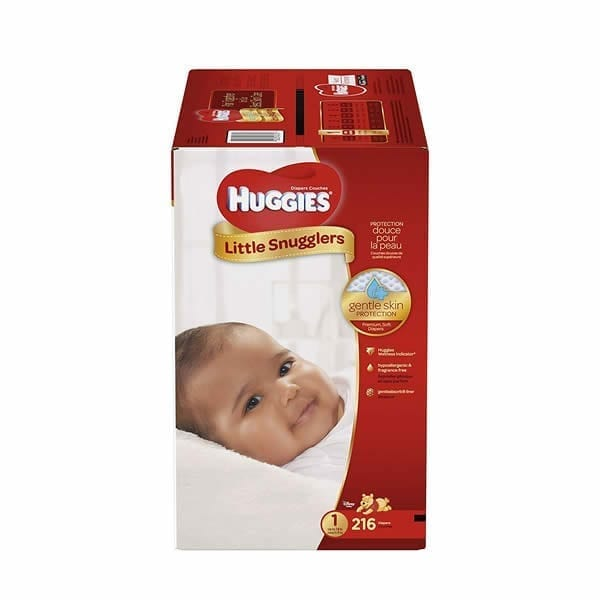 Huggies Little Snugglers Diapers Size 1 (216 Pcs)