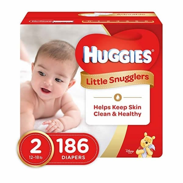 Huggies Little Snugglers Diapers Size 2 (186 Pcs)
