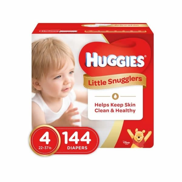 Huggies Little Snugglers Diapers Size 4 (144 Pcs)