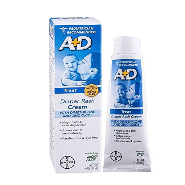 A+D Diaper Rash Cream with Aloe Diaper Rash Cream 4 Oz