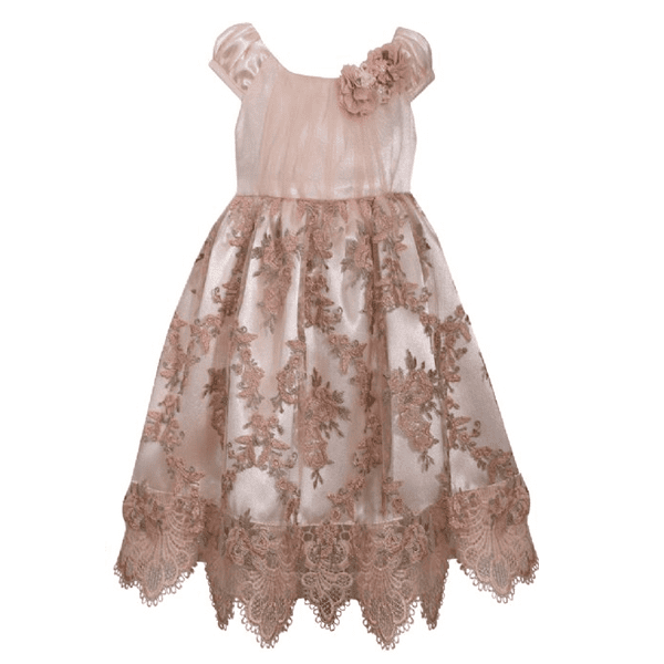 Empire Lace Dress Biege 5
