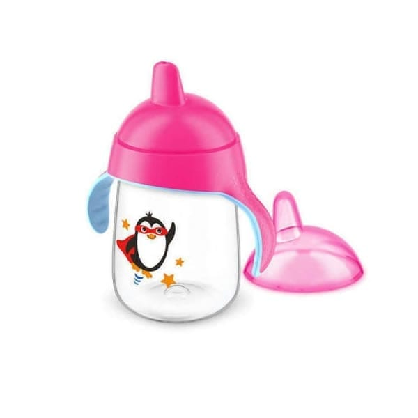 Philips Avent SCF751 / 07 New Penguin Dripless Lapping Cup 200ml 6 months + 7oz Pink