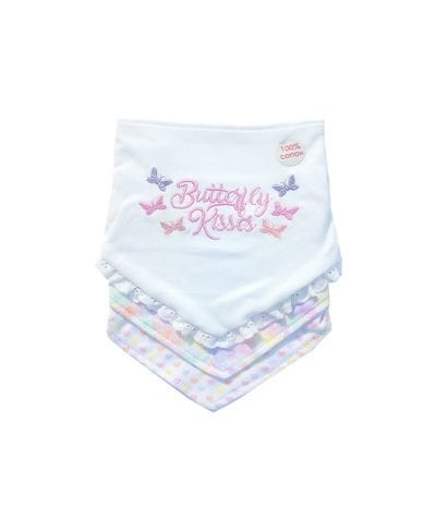 Daisy Fuentes 3 Pack Bibs - Butterfly Kisses -0-6M