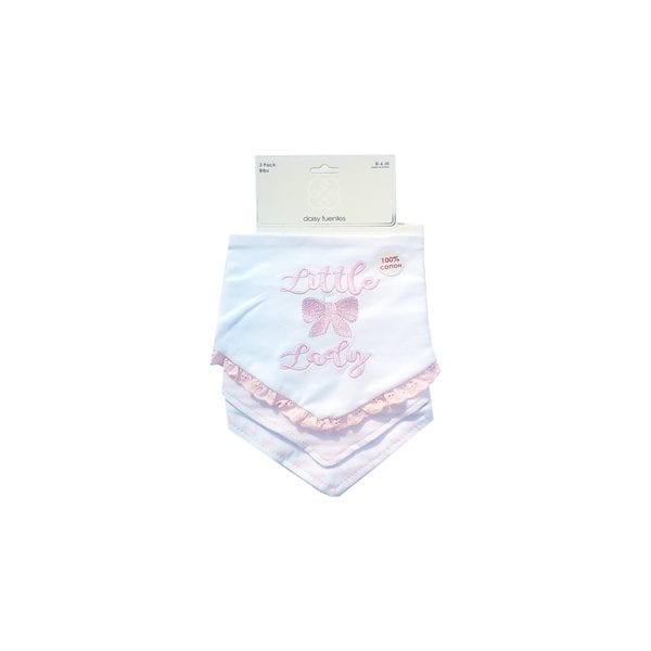Daisy Fuentes 3 Pack Bibs - Little Lady 0-6m