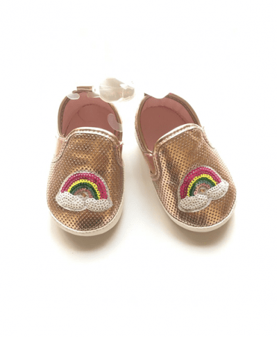 Stepping Stones Newborn Crib Soft Sole Shoe Sneakers - Rose Gold SGP15136-1