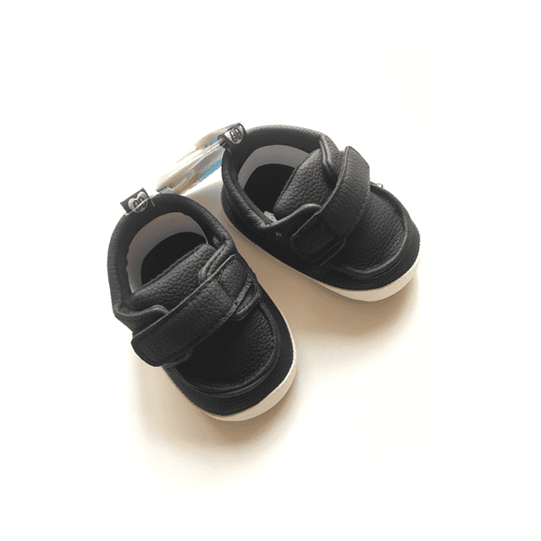 Stepping Stones Boy's Single Strap Shoe - Black SBD16442 -1