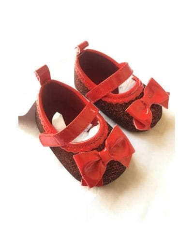 Stepping Stone Baby Infant Girl Floral Shoe - Glittering Red SGD126