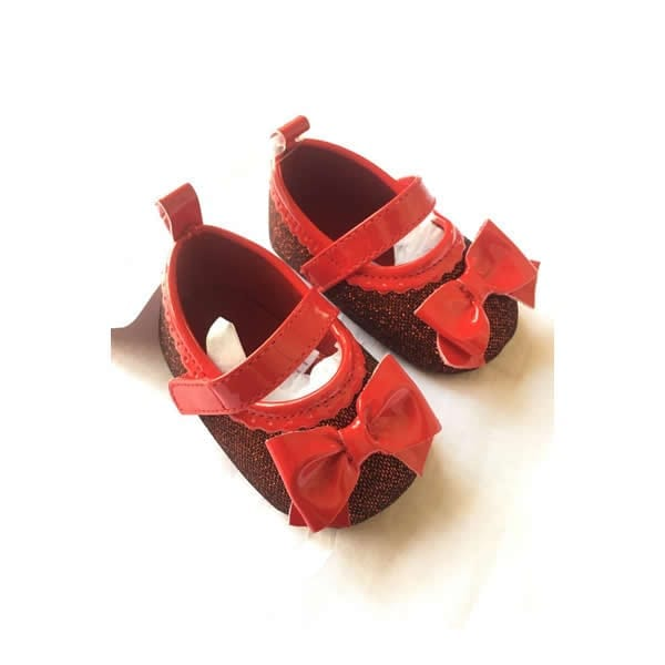 ac024887afc13 Stepping Stone Baby Infant Girl Floral Shoe - Glittering Red SGD126