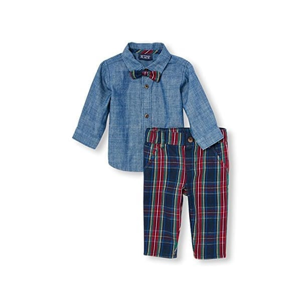The Childrens Place Baby Boys Top And Pants Set Red 69711 3