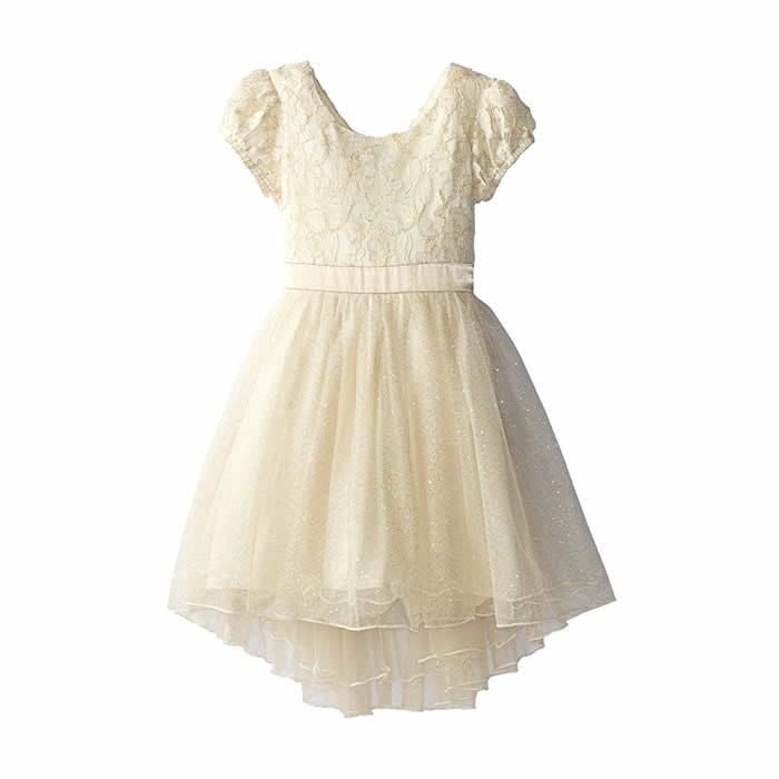 fc3bc79819164 ... Speechless Little Girls' Lace and Glitter Tulle Dress - C4317D02UHFT.  Speechless ...