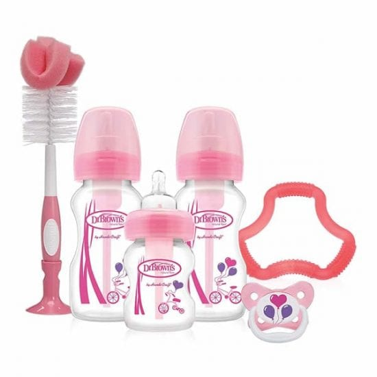 dr brown's breast like bottle, Dr. Browns Options Special Edition Gift set, Dr. Browns Options Special Edition Gift set Pink